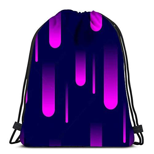 Arvolas Kordelzug Taschen Rucksack Cosmic Meteor Dusche mit fallenden Lichtern Feuerwerk Gradient Geometric Pa Travel Rucksäcke