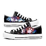 CEATLYRING Zapatillas De Lona Genshin Impact Hutao,Deporte Zapatos Anime Unisex Cosplay Impreso Casual Cómodo Moda Shoes China 34-45