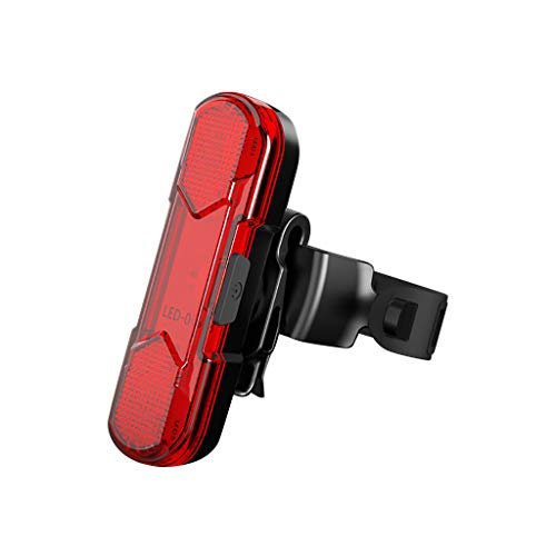 DressLksnf Luz Trasera de Bicicleta Luz de Carga Impermeable Luz Trasera USB de Bicicleta Giratoria,0409ESD039 Rojo 39