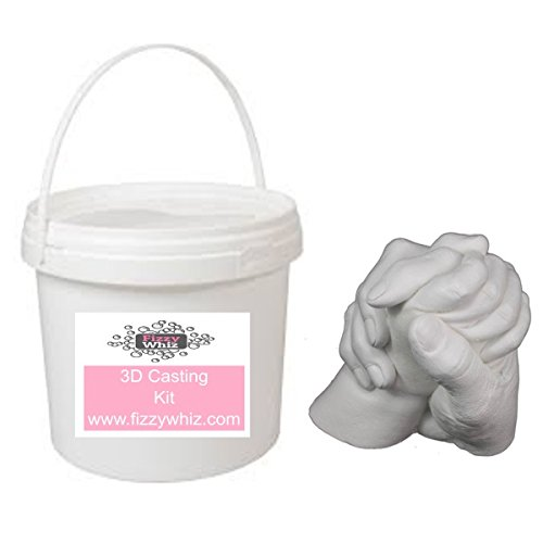 Deluxe 3D Casting Kit - Holding Hands Hand Print Casts Sculpture Keep Sake Gift (Set 2 - Copper Paint)