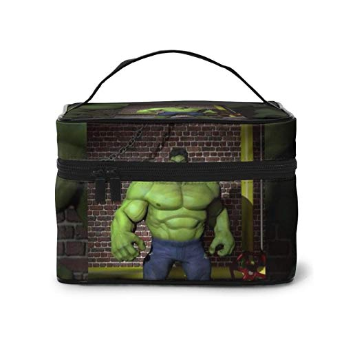 Cartoon Hulk Make up Bag Waterproof Cosmetic Bags with Gold Zipper Portable Marble Makeup Bag Organizer for Women Toiletry Bags for Traveling