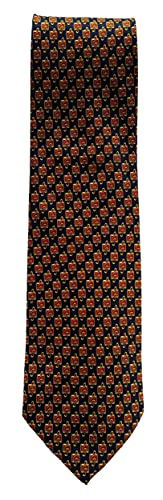 Small Repeating Treble Clefs Sleeved Polyester Novelty Tie Student Teacher Music