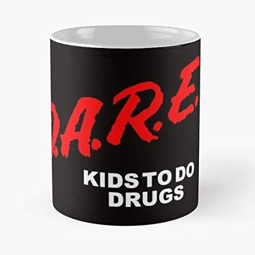 Hardymedicalsupplies School Funny Drugs Marijuana 80S Pot Dare 90S Taza de café con Leche 11 oz