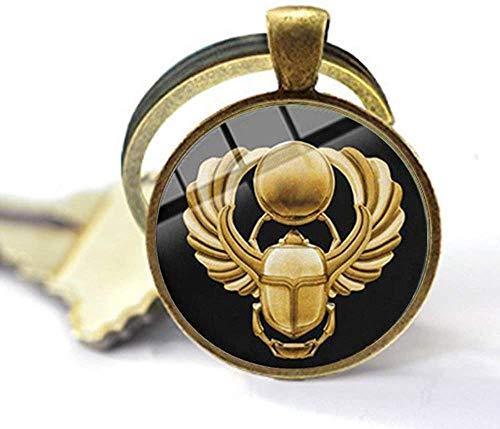 Llavero egipcio con amuleto de escarabajo de los animales del antiguo Egipto Escarabajo, joyería de arte hermoso regalo
