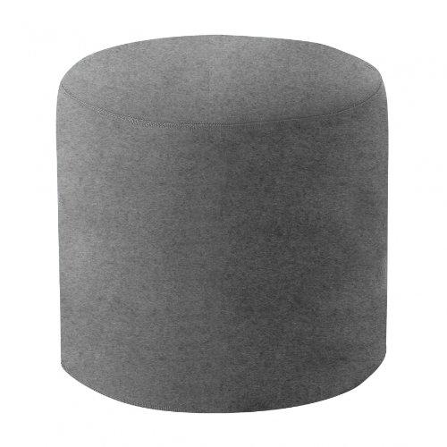 Drum Hocker/Beistelltisch M, hellgrau Stoff Felt 620 H 40cm Ø 45cm
