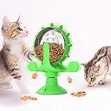 SUNLYTOUR Perro Gato Comida Lenta Rompecabezas Divertido Juguete de forrajeo, Comida para Rompecabezas Dispensador, Interactivo de Juguete de Rompecabezas Iq para Alimentar de Comida Mascota (Verde)