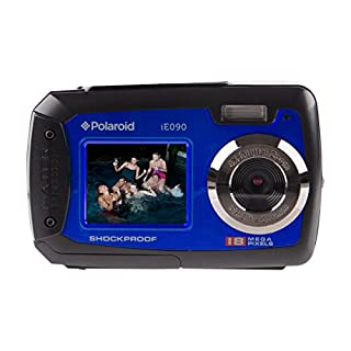 Polaroid iE090 Dual-Screen Waterproof Digital Camera (18 MegaPixel, 2.7 Inch Screen, 4x Digital Zoom) (Blue) (B00PH4K8VA) | Amazon price tracker / tracking, Amazon price history charts, Amazon price watches, Amazon price drop alerts