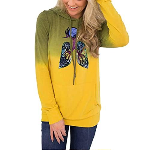 Pullover Respiración en el Universo Pulmones Sudadera Vintage Winter Sweatshirt Slim Fit Abrigos Ultra Soft Feel Pullover Mujeres Estándar Cuello Redondo Sudaderas Luz Slim Outwear Mujeres