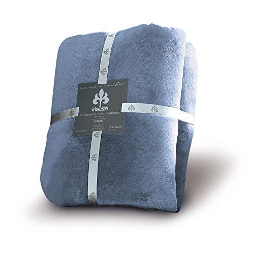 Irisette Wohndecke Castel 8900 Uni l Größe 150x200 cm l Farbe 23 Jeans