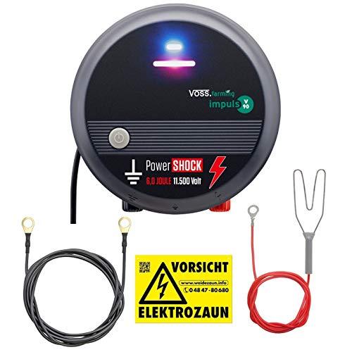 VOSS.farming Pastor eléctrico V90, Electrificador de cercados 230V, versátil y Potente, Apto para cercados Largos