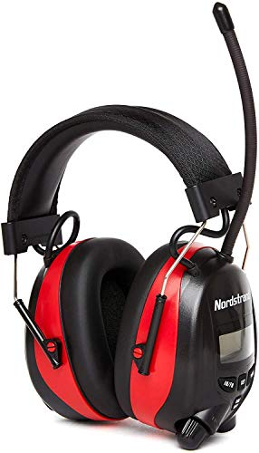 Nordstrand Ear Defenders Protection Muffs Headphones - AM/FM Radio - Phone Stereo Jack - NRR 25dB