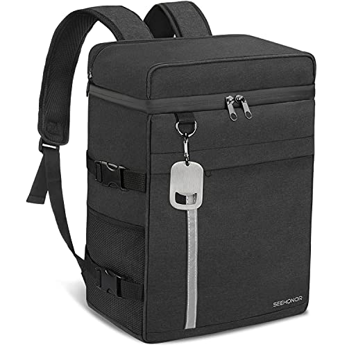 SEEHONOR Insulated Cooler Backpack Leak-Proof Waterproof Large Capacity Backpack Cooler 36 Can Cooler Bag Lightweight Soft Beach Cooler for Men Women to Work, Picnic, Hiking, Camping