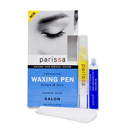 Parissa Eyebrow Waxing Pen (4ml), Salon Style Wax Hair removal waxing Kit for Eyebrows With after care Azulene oil