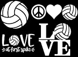 Sports Decal 4 Pack: Volleyball - Assorted Volleyball Decals