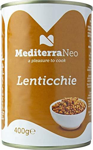 MediterraNeo - Lot de 6conserves de lentilles, 400g