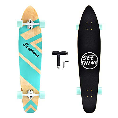 42 Inch Longboard Skateboard Complete Cruiser,The Original Artisan Maple Skateboard Cruiser for Cruising, Carving, Free-Style and Downhill(Classic...
