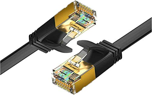 Reulin Ethernet Kabel 4.5M Cat.7 Flach LAN Kabel, 10G für WiFi Extender, Modem Router, Internet Booster, Netzwerk Switch, RJ45 Stecker Adapter, Ethernet Splitter, PS3-PS4 Pro, Laptop, Computer