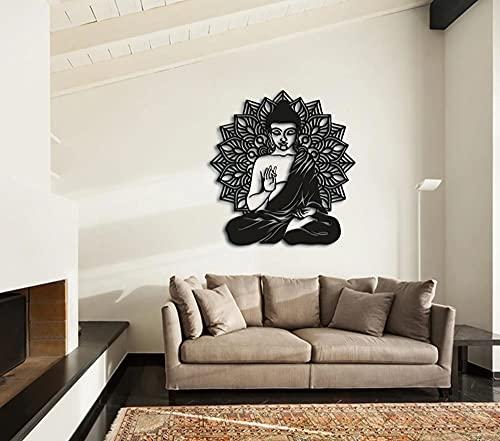 Etgdecor Zen Yoga - Arte de pared de metal, decoración de pared de metal, 50 x 48 x 2 cm x 48 x 2,5 cm x 48 cm