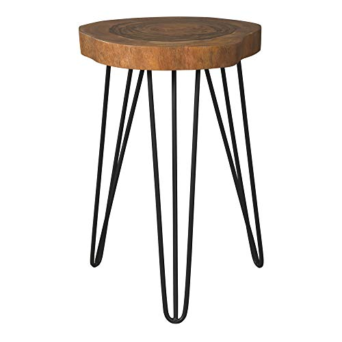 Signature Design by Ashley - Eversboro Accent Table - Faux Natural Edge - Brown/Black