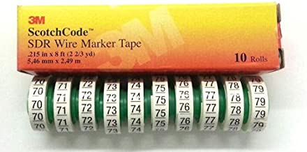 3M (SDR-70-79) Wire Marker Tape Numbers 70-79