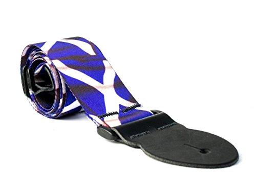 LeatherGraft Schotland Schotse Saltaire bedrukte vlag land nationaal ontwerp gitaar riem