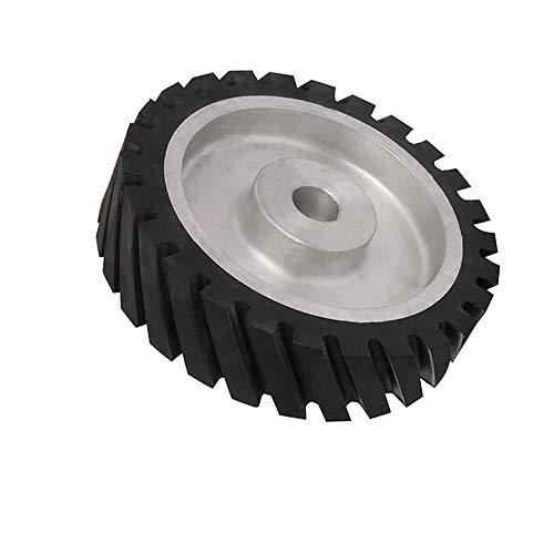 25,4 cm Wellenschliff-Gummi-Bandschleifer, Kontaktrad, Aluminium-Kontaktrad, zum Polieren mit 2,5 cm Loch