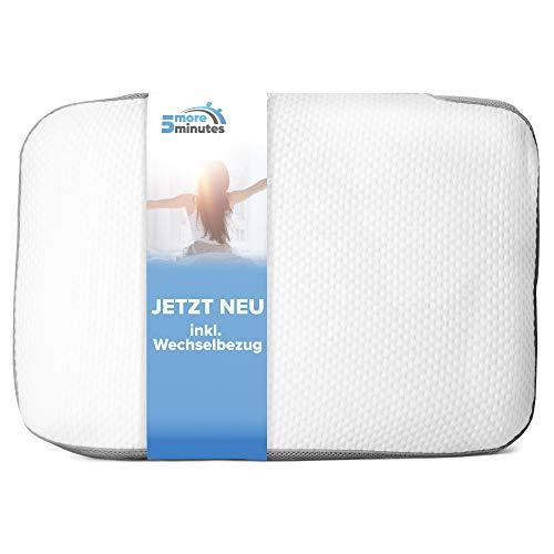 5more minutes Orthopädisches Kissen aus Memory Foam |60x40x12cm| beugt Schmerzen & Verspannungen vor - entlastendes Nackenkissen inkl. 2. Bezug zum wechseln- für einen erholsamen & ruhigen Schlaf