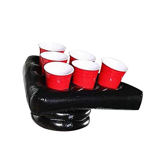Toyvian Pong Hut Spiel aufblasbare Hut Party Yard Pong Cup Tablett für Party Tanzen Geburtstag Abend Hochzeit Spielzubehör