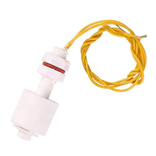 Wnuanjun 1 UNID PP Sensor de Nivel de Agua líquido Interruptor de Flotador Horizontal Interruptor de Flotador de Baja presión Sensor de Nivel de Agua Sensor de Nivel de Agua 40 cm de Alambre
