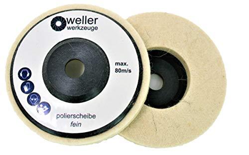 1x Polierscheibe Polierrad passend für Bosch GWS 10,8 10 8 12V 12 76 Zubehör Stahl Edelstahl Winkelschleifer
