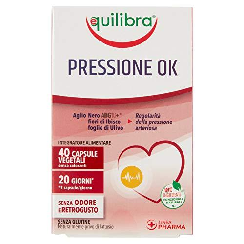 Equilibra Pressione Ok Capsule Vegetali, 40 Pezzi