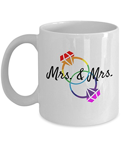 Lesbian Couple Mrs. & Mrs. Wedding Engagement Marriage Coffee Mug