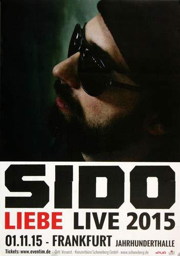 Sido - Liebe Live, 2015 » Konzertplakat/Premium Poster | Live Konzert Veranstaltung | DIN A1 «