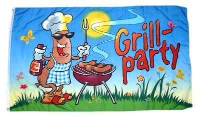 Flagge/Fahne Grill Party Grillfahne 90 x 150 cm