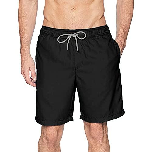 N\P Pantalones cortos deportivos para hombre pantalones de playa para hombre pantalones cortos casuales rápidos, B, Large