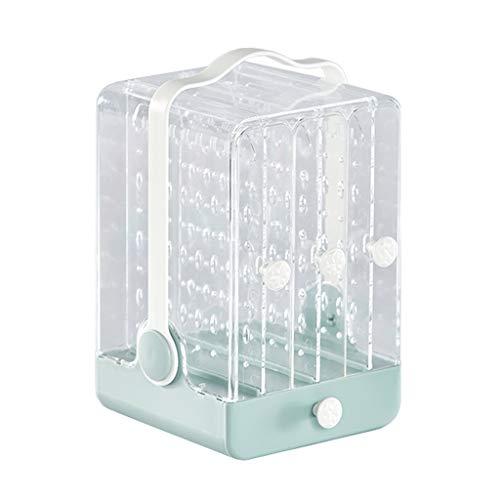 LTCTL Caja De Joyería Transparente Mujer Pendientes De Joyería Soporte De Exhibición con Cajones Organizador De Joyería para Pendientes (Color : Green)