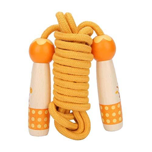 Springtouwen, houten springtouw buitenspeelgoed voor aërobe oefening Gym training (3 meter)(Oranje)