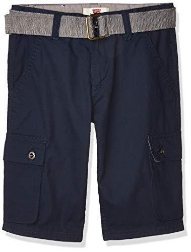 Levi's Boys' Big Cargo Shorts, Dress Blues, 12