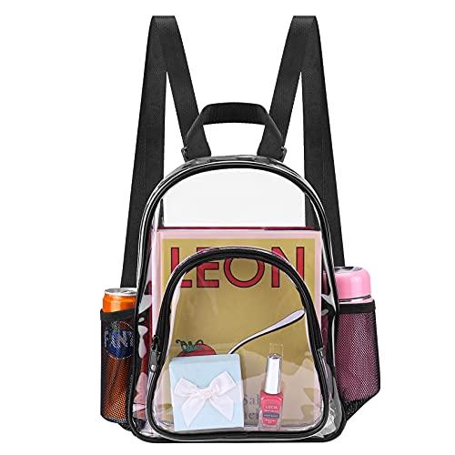 Clear Mini Backpacks Lightweight Cute Fashion Small Daypack for Women Girls Sports Fan Waterproof...