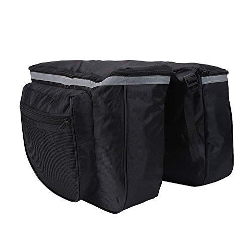 ALIXIN-Waterproof Cycling Trunk Bag Rack Double Side,Bicycle Rear Saddle Shelf Luggage Handbags,Back Seat Messenger Pack Trunk Saddlebags Satchel For Cycling Sports(25L,600 PVD,6 Side Reflectors)