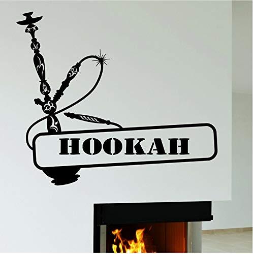Wasserpfeife wandtattoos wasserpfeife rauchen rauchen vinyl wandaufkleber dekoration zubehör wohnzimmer kunstwand 42x48 cm
