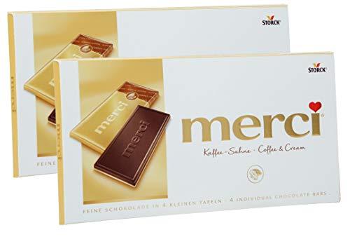 merci Tafel Kaffee-Sahne, 2er Set (2 x 100g Tafeln)