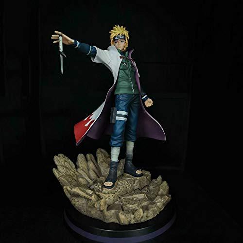 SFRIDQ Naruto Anime Behind The Scenes Wave Fengshuimen La cuarta generación de Hokage Versión Estatua Muñeca Modelo Muñeca Escultura Juguete Decoración Altura 28 cm