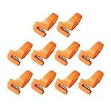 SUPVOX Cortador de Anillo de Corte de Hilo Multifuncional Cortador de Hilo de Corte Ligero de Hilo de Acero Inoxidable para Coser al Aire Libre hogar 10 Piezas Naranja