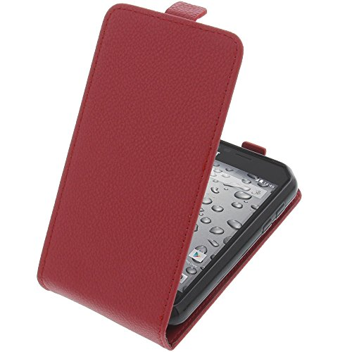 foto-kontor Tasche für CAT S30 Smartphone Flipstyle Schutz Hülle rot