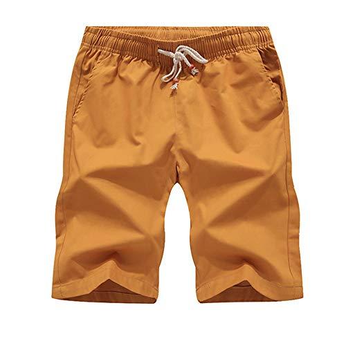 N\P Pantalones cortos de los hombres de algodón casual de la tabla del mar de los hombres de la playa