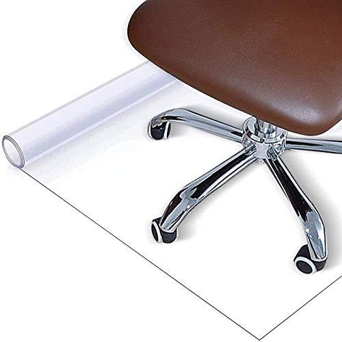 LMZJLU PVC Chair Mat, Non-Slip Transparent Chair Cushion 0.5mm Home Office Computer Chair Carpet Floor Mat Rectangle for Hard Floor Desks Mat