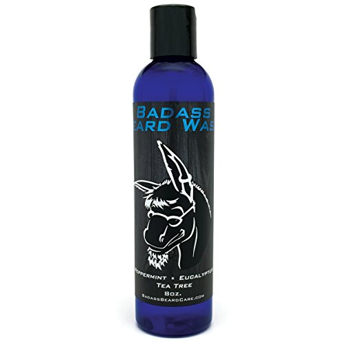 Badass Beard Care Beard Wash for Men - Makes Your Beard Smell Fresh and Clean, Keeps Beard Hair Light, and Skin Hydrated and Refreshed, 8oz