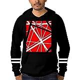 shdyq23cfs 3D EVH Guitar Stripes Hoodies for Men Hippop Loose Sweatshirts with Pockets Hooded Cotton Black