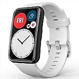 TUSITA Armband für Huawei Watch Fit - Silikon Uhrenarmband Sport Bänder Ersatz Armbänder Watch Band - Smart Watch Zubehör